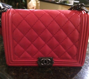 Chanel Boy Bag Medium sized Red for sale