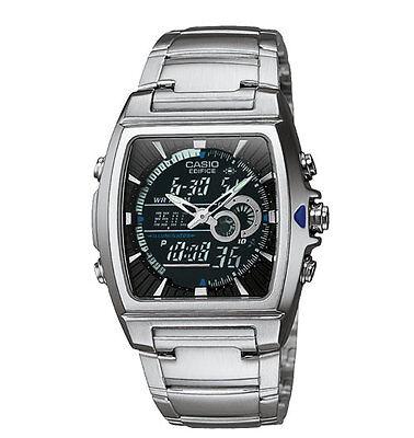 Casio EFA120D-1AV, Edifice Watch, Analog/Digital, Thermometer, Black Dial, Alarm