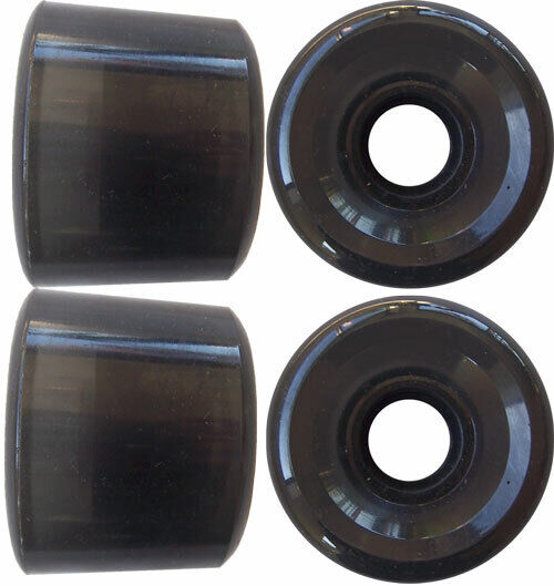 ANGLED DOWNHILL LONGBOARD WHEELS 63mm to 65mm SMOKED