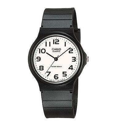 Casio MQ24-7B2, Classic Analog Watch, Black Resin, White Dial, Water Resistant New Casio Analog Water