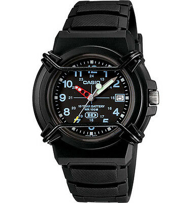 - Casio HDA600B-1BV, Analog Watch, Black Resin Band, Date, 100 Meter WR