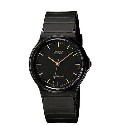 Casio MQ24-1E, Classic Analog Watch, Black Resin Band, Water Resistant