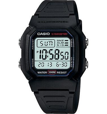 Casio W800H-1AV, Digital Watch, Resin Band, Stopwatch, Alarm, 10 Year Battery