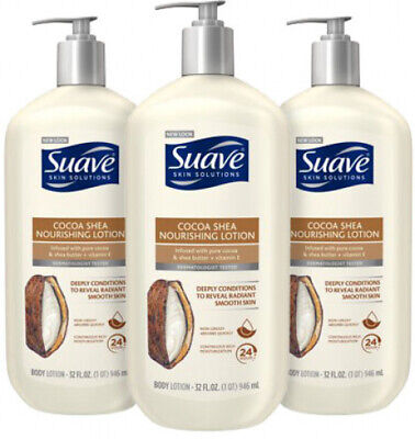 (3 Pack) Suave Skin Solutions  Nourishing Body Lotion Cocoa Butter & Shea