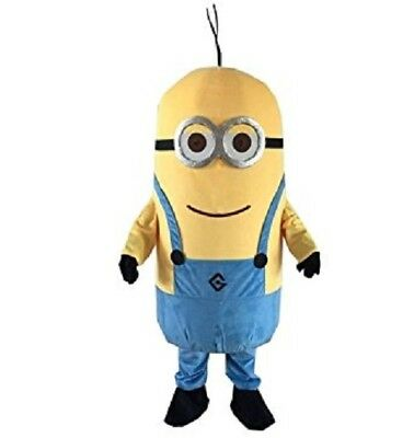 Adult Size Minions Despicable Me Mascot Costume Halloween Cosplay Character NEW