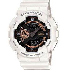 Casio G-Shock Analogue/Digital Mens White Rose Gold Watch GA-110RG-7ADR
