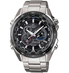Casio Men's EQS500DB-1A1 Edifice Stainless Steel Multi-Function