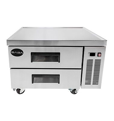 New Heavy Duty 36 2 Drawer Refrigerated Chef Base Cooler W Casters Free Ship