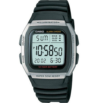 Casio W96H-1AV, Illuminator, Digital Chronograph Watch, Alarm, 10 Year Battery