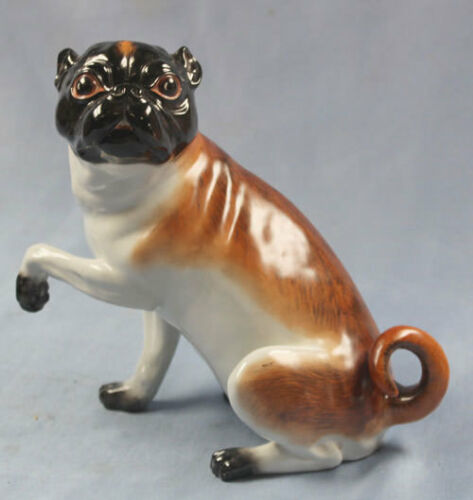 pug porcelain marked figurine porcelainfigurine Mops perfect dresden
