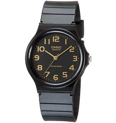 Casio MQ24-1B2, Classic Analog Watch, Black Resin Band, Water Resistant