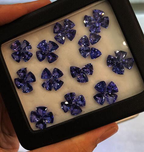 10 Pieces Amazing Luster Natural 6mm Purple Blue Tanzanite Lot Loose Gemstone