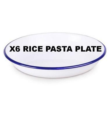 X6 FALCON ENAMELWARE RICE PLATE DISH COOKWARE OVEN BAKE WARE 20cm 22cm 24cm Falcon Enamelware