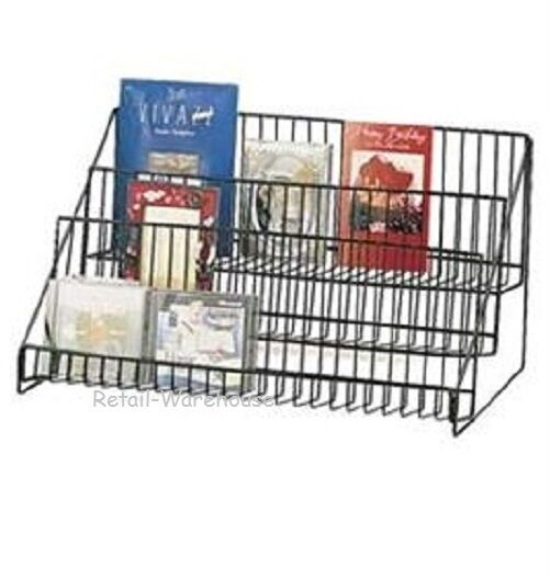 "3 Tier Wire Countertop Literature Brochure Display Rack 12 ¾"" H x 23 ½"" x 14"" D"