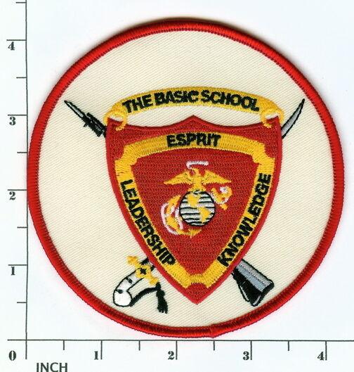 USMC The Basic School PATCH MCB Quantico Virginia TBS Officer Training ! Marines
