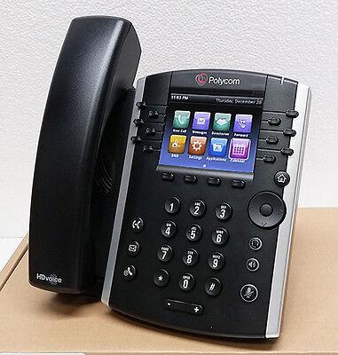 New Polycom Vvx 410 12 Lines Poe Sip Voip Business Media Phone  2200 46162 025
