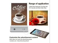 Restaurant Menu Photo Power Bank 10000mAh Coffee Shop Bar 4xUSB Charge Blue Led In Black Or Silver