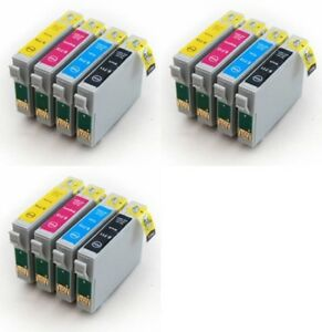 12 non oem ink cartridges t0715 for epson stylus sx515w sx510w sx200 sx205 sx215 ebay. Black Bedroom Furniture Sets. Home Design Ideas