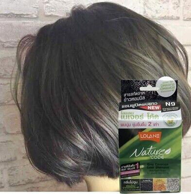 5-Mins Hair Dye Shampoo Natural Coloring w. RiceMilk Coating Thai Best