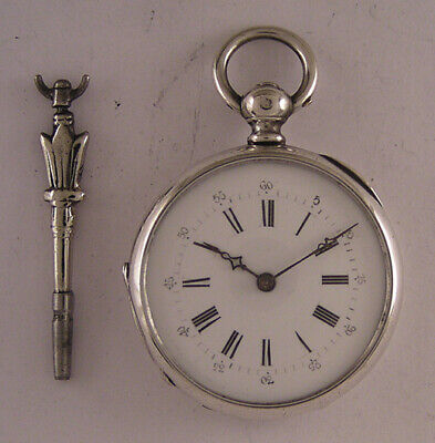 Lovely Silver Case Cylindre 150-Years-Old French Pocket Watch Serviced PERFECT