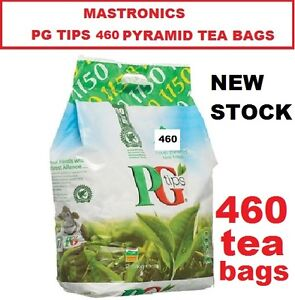 TEA-BAGS-PG-Tips-460-ONE-CUP-PYRAMID-TEA-BAGS-NEW-STOCK-LONG-DATE-1kg-PACK