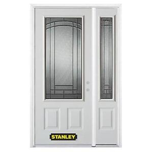 NEW* STANLEY DOORS DOOR W/SIDELITE 1538E-1RESL-32-L 179875792 48.25 inch x 82.375 inch CHATHAM PATINA 3/4 LITE 2 PANE...