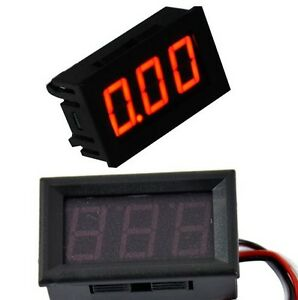 DIGITAL LED DISPLAY RED 30V VOLTMETER VOLTAGE PANEL METER 0-30 Volt 3 WIRE gauge