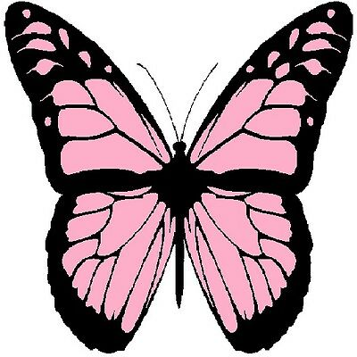 30 Custom Pink Monarch Butterfly Personalized Address Labels