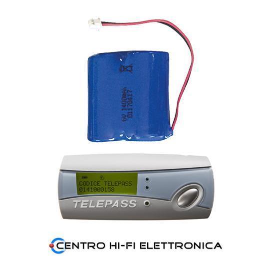 Batteria per Telepass Ricaricabile 6V 1400mAh 2xCR123A