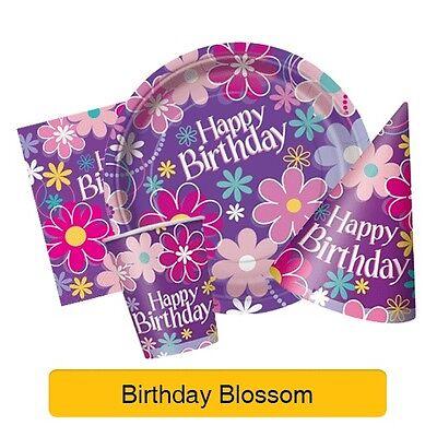 Geburtstag Blüten Geburtstagsparty Artikel (Geschirr, Ballons und Dekorationen)