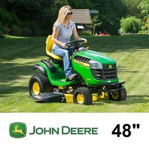 "NEW JOHN DEERE 48"" RIDE ON MOWER - 124051065 - D155 24HP HYDROSTATIC GAS GASOLINE POWERED MOWERS RIDING LANDSCAPING G..."