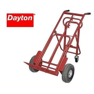 NEW DAYTON CONVERTIBLE HAND TRUCK - 116783359 - RED - MULTI POSITION STEEL DOLLY DOLLIES TRUCKS MOVING MOBILE PORTABLE