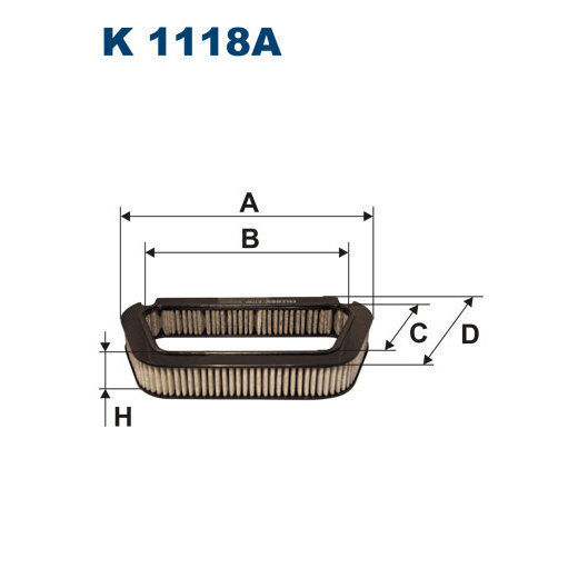 Innenraumfilter FILTRON K1118A