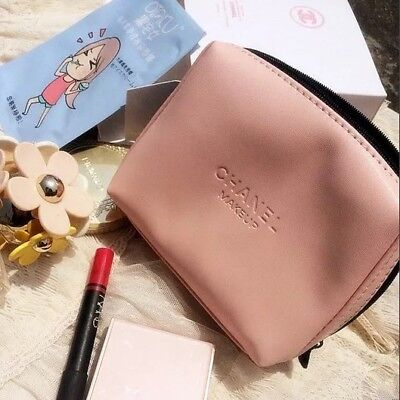 Brand New Baby Pink Chanel Make-Up Case Bag