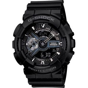 Casio G-Shock GA110-1B Watch, Men's Analog Digital Black Resin Strap