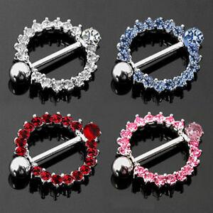 Pair-of-Nipple-Shield-Gem-Set-Bar-Rings