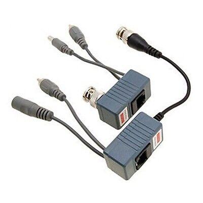 A BNC Coax Balun CCTV Audio Video Power over Transceiver Cable Camera IP 5MP