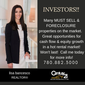 INVESTORS!!  CALL TODAY FOR MUST SELL & FORECLOSURE PROPERTIES!!