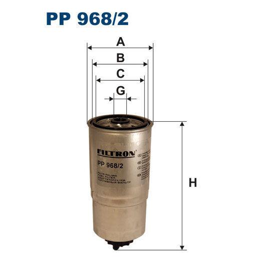Kraftstofffilter FILTRON PP968/2