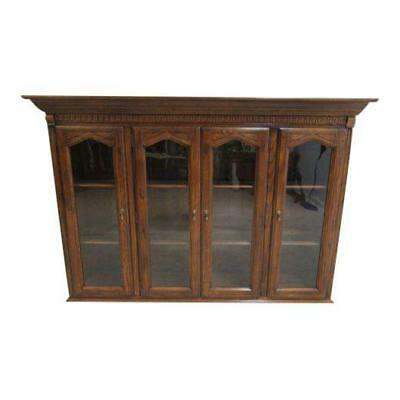 Ethan Allen Charter Oak Jacobean China Cabinet Breakfront Hutch Top 240, used for sale  Swedesboro