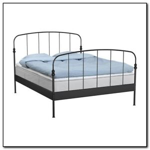 IKEA METAL BED FRAME ONLY $50 QUEEN SIZE