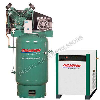 Champion Vr10-12 3-p 230v 10hp Compressor Advantage Series W Refrigerated Dryer