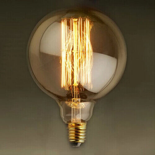 G80 Vintage Industrial Style 40W Squirrel Cage Lightbulb