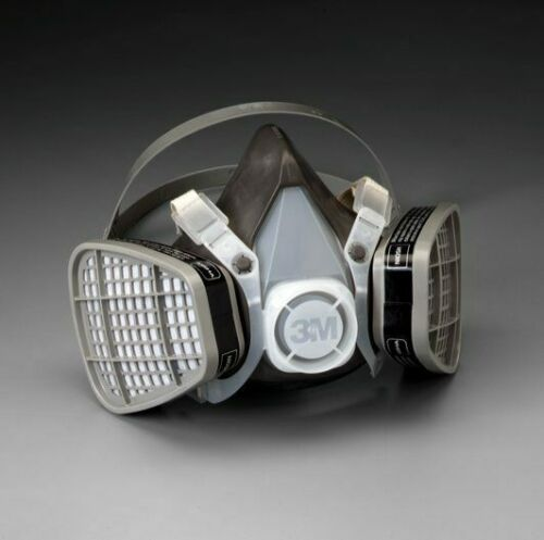 3M 5301 Half Facepiece Respirator W/ Organic Vapor Cartridge, Size LARGE
