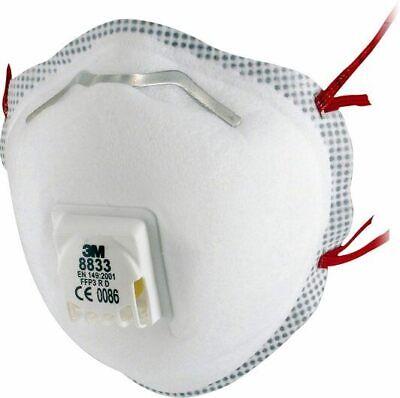 Mundschutz 3M 8833 FFP3 R Filtrierende Halbmaske wiederverwendbar 10 St. Box