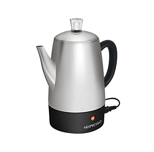 Mixpresso Electric Coffee Percolator | Stainless Steel Coffe