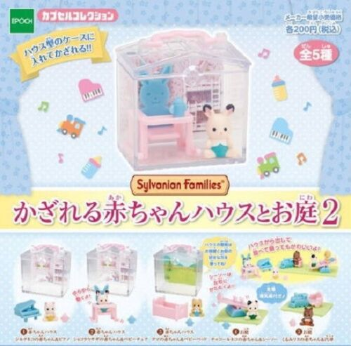 Epoch Capsule Sylvanian Families Baby House and Garden Part 2 Full Set 5 pieces