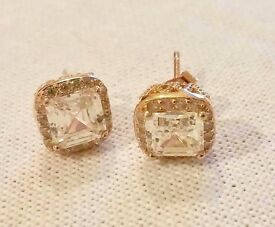 Gorgeous Rose-Gold-Plated Silver Earrings