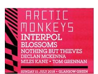 3 x tickets for Arctic Monkeys TRSNMT festival Sunday 1st of july