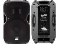 Pair of ALTO TS 112A 800w Powered PA Speakers.
